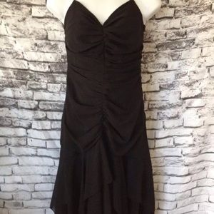 ABS by Allen Schwartz black dress bead strap sz 6